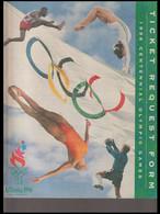 USA Brochure 1996 Atlanta Olympic Games - Ticket Request Form (H59M) - Estate 1996: Atlanta