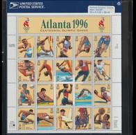 USA 1996 Atlanta Olympic Games Sheet Of Twenty Stamps Shet MNH/** (H59M) - Estate 1996: Atlanta