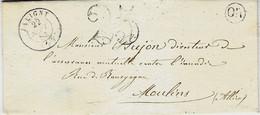 1853- Lettre De JALIGNY ( Allier ) Cad T15 + Taxe 25 Dt - 1849-1876: Classic Period