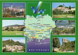 CPM Géographique - 83 Les Villages Du VAR. Brignoles, Néoules, Méounes, Gareoult, Multi Vues - TBE - Carte Geografiche
