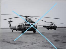 Photo SABENA MELSBROEK Hélicoptère Helicopter SIKORSKY S 55 + S 58 Circa 1955 OO-SHG/SHF Avion Aviation Vliegtuig - Aviation