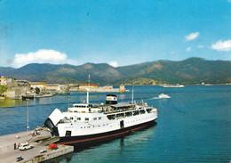 """PORTOFERRAIO - ISOLA D'ELBA - LIVORNO - TRAGHETTO """"M/N AETHALIA"""" IN PORTO - 1971 - Livorno"""