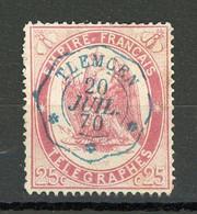 """FRANCE - TIMBRES-TELEGRAPHE - N° Yvert 5 Belle Oblitération Bleue De """" TLEMCEN De 1870"""" - Telegraph And Telephone"""