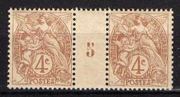 FRANCE ( MILLESIME ) N° Y&T  110  TIMBRE  NEUF  SANS  TRACE  DE  CHARNIERE . A VOIR .R7 - 1900-29 Blanc
