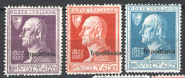 Tripolitania 1927Sass.43/45 **/MNH VF/F - Tripolitania