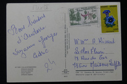 ANDORRE - Affranchissement Flore Sur Carte Postale En 1983  L 86062 - Cartas