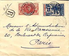 Ht SENEDAL - NIGER  - Enveloppe RECC. De KAYES  Pour Paris - Cartas