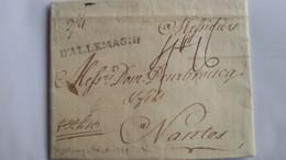 LAC Avec Marque D'entrée D'ALLEMAGNE écrite D'Augsbourg Le 30/10/1778 Pour Nantes - Répondu Le 10/11- 3 Photos - 1701-1800: Precursori XVIII