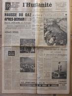 Journal L'Humanité (30 Juillet 1957) Speidel - Dullles à Londres - Festival Moscou - 1950 - Nu