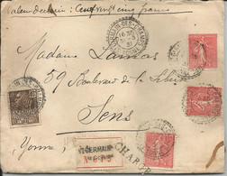 LAC Chargée Du 31/3/1931 Pour Sens Avec 3 N 199 Et N 271 - 1921-1960: Modern Period