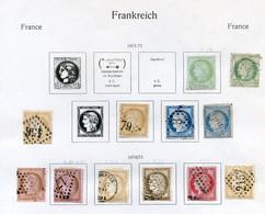 TIMBRES FRANCE REF250120...Lot De Timbres Cérès Année 1871-1875, Charnière, Oblitérés - 1871-1875 Ceres