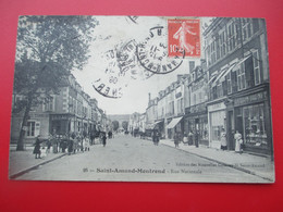 SAINT AMAND MONTROND - Rue Nationale - Perspective Peu Fréquente - En 1909 - TBE - Saint-Amand-Montrond