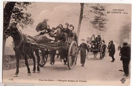 CROQUIS DE GUERRE-PAUVRE GENS-REFUGIES BELGES EN FRANCE - Oorlog 1914-18