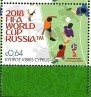 CYPRUS, 2018, MNH, WORLD CUP RUSSIA 2018, SOCCER , FOOTBALL, 1v - 2018 – Rusland