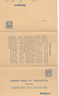 HONGRIE   ENTIER POSTAL/GANZSACHE/POSTAL STATIONARY/ GANZSACHE  CARTE AVEC REPONSE - Enteros Postales