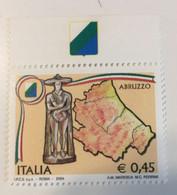 2004 - Regioni D'Italia - Abruzzo -E.0,45 - 2001-10:  Nuovi