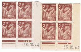 2f Iris Yvert 653, Paire A+B Du 26-10-44, ** - 1940-1949
