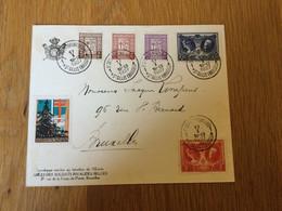 Belgique N°240\4 Sur Pli De Saint-Gilles à Bruxelles 17/01/1927 + Vignette Antituberculeux - Cartas