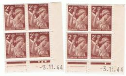 2f Iris Yvert 653, Paire A+B Du 3-11-44, ** - 1940-1949