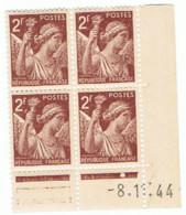 2f Iris Yvert 653, B De A+B Du 8-1-44, ** - 1940-1949