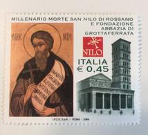 2004 - Italia - Millenario Morte Di San Nilo Di Rossano E Fondazione Abbazia Di Grottaferrata. E. 0,45 - 2001-10:  Nuovi