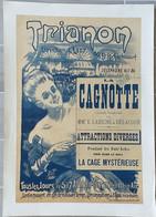 AFFICHE LITHO Originale Entoilée La Cagnotte Labiche Cage Mysterieuse  MAGIE 60x80 - Zonder Classificatie