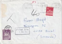 BUND 1966 LETTRE TAXEE DE STUTTGART - Covers & Documents