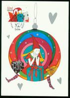 Mk Aland Islands Maximum Card 2009 MiNr 320 Post Paid   Christmas. (Wichtel, Santa's Helpers) - Aland
