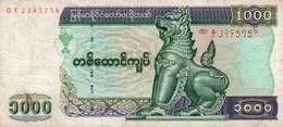 MYANMAR-1000 KYAT 1998  P-77 Circ. - Myanmar
