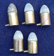Lot 5 Cartouches 12 Mm à Broche Mle 1833 - A - Decorative Weapons