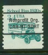 USA Scott # 2123a 1985  American Transportation - 3.4¢School Bus Coil PreCancelled  Mint Never Hinged  (MNH) - Nuevos