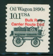 USA Scott # 2130a 1985  American Transportation Coil - 10.1¢Oil Wagon (Precancelled) Mint Never Hinged  (MNH) - Nuevos