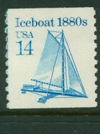 USA Scott # 2134 1985  American Transportation Coil - 14¢Iceboat  Mint Never Hinged  (MNH) - Nuevos