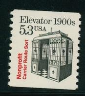 USA Scott # 2254 1988  American Transportation Coil - 5.3¢Elevator  Mint Never Hinged  (MNH) - Nuevos