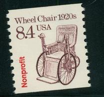 USA Scott # 2256 1988  American Transportation Coil - 8.4¢Wheel Chair  Mint Never Hinged  (MNH) - Nuevos