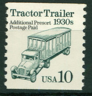 USA Scott # 2257 199  American Transportation Coil -10¢Tractor TrailerMint Never Hinged  (MNH) - Nuevos