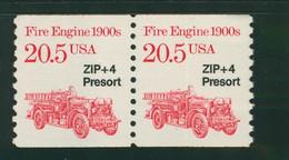 USA Scott # 2264 1988  American Transportation Coil -20.5¢Fire Engine  Precancelled (SINGLE) Mint Never Hinged  (MNH) - Nuevos