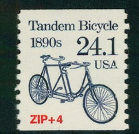 USA Scott # 2266 1988  American Transportation Coil -24.1¢Tandem Bike Mint Never Hinged  (MNH) - Nuevos