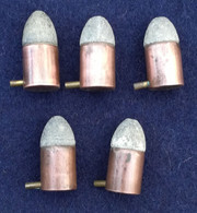 Lot 5 Cartouches 12 Mm à Broche Mle 1833 - E - Decorative Weapons