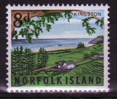 Norfolk Island Single 8d Stamp From The 1964 Overlooking Kingston Issue. - Norfolk Island