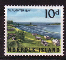 Norfolk Island Single 10d Stamp From The 1964 Overlooking Kingston Issue. - Norfolk Island