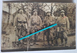 1916 Verdun Vaux Douaumont 23eme RIT Infanterie Territoriale Territoriaux Gcv Masque  Poilu Tranchée 1914 1918 Photo Ww1 - Guerra, Militares