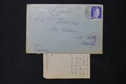 FRANCE / ALLEMAGNE - Enveloppe + Contenu D'un STO à Stuttgart En 1944 Pour Le Mans Avec Contrôle Postal - L 86144 - 1921-1960: Période Moderne