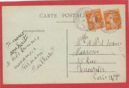 Nièvre - Tamnay En Bazois - Facteur Boitier Type 84 Sur Type Semeuse - 1922 Sur Carte Postale - 1921-1960: Période Moderne