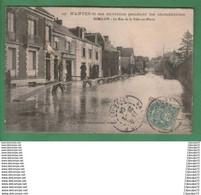 C.P.A  DE  DOULON  -- NANTES ET SES ENVIRONS PENDANT LES INONDATIONS --- RUE DE LA VILLES - EN - PIERRE . - Sonstige Gemeinden