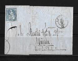 HEIMAT BERN → 1863 Faltbrief / Rechnung Peter Mosimann In Langnau Via Thun, Unterseen Nach Mürren - Storia Postale