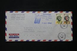 POLYNÉSIE - Enveloppe Commerciale De Papeete Par 1er Vol Tahiti / Nouvelle Calédonie En 1961 Pour La France - L 86149 - Briefe U. Dokumente