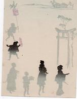 V12 96Hs  Menu Ancien Ombres Chinoises Lampions Geishas Chine Japon - Menú