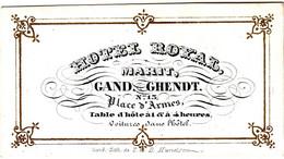 Carte Porcelaine D'Hotel Royal, Marit, Gand/Ghendt Imp T & D Hemelsoer - Sin Clasificación