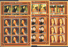 ZZ086 IMPERFORATE 2001 MOZAMBIQUE ART PAINTINGS AMADEO MODIGLIANI !!! 9SET MNH - Other